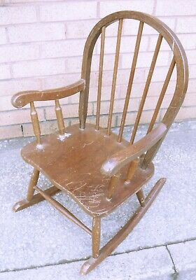 Vintage Child's Rocking Chair (WH_8296)