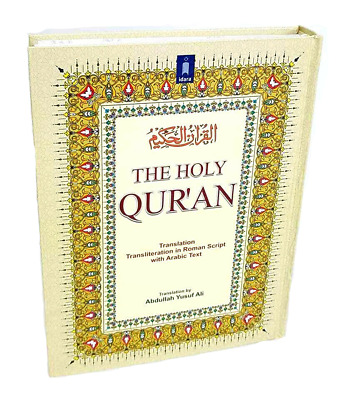 The Holy Quran-Arabic Text with English Translation & Transliteration (HB) IDARA