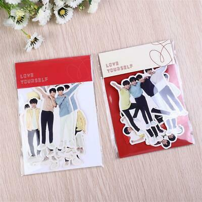 Kpop BTS Love Yourself Photo Sticker World Tour Stickers for Scrapbook Bag DIY