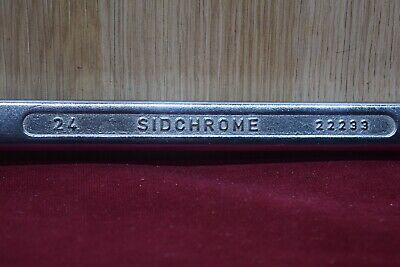 Vintage Sidchrome 22233 Combo 24mm Metric Spanner Made In Australia Old Tool