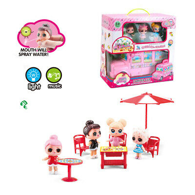 Girl Cartoon LOL Surprise Doll Luxury Car Dolls Pretend Game Kids Xmas Toy Gift