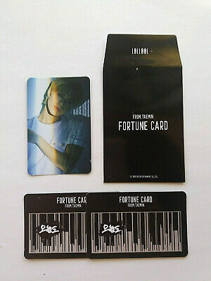 SHINee TAEMIN 2nd Concert T1001101 Fortune Scratch card Photocard Official Set
