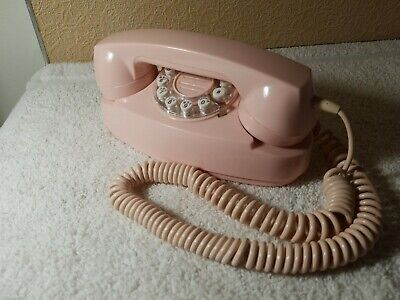 Retro Crosley Pink Princess Rotary Look Touch Tone Phone Extra Long Cord Tested