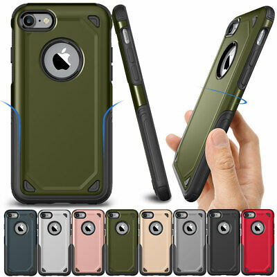 For iPhone 8 7 6 6s Plus Slim Hybrid Shockproof Armor Silicone Hard Case Cover