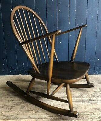 Ercol Rocking Chair Model 315 Beech Elm Mid Century Retro Vintage DELIVERY*