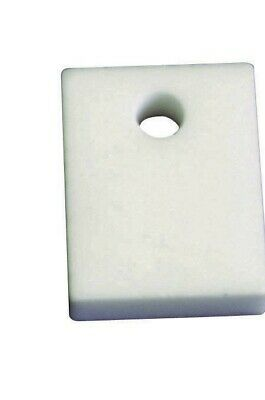 Pack of 10 - 24x17mm Transistor Heatsink White Ceramic Insulator Plates