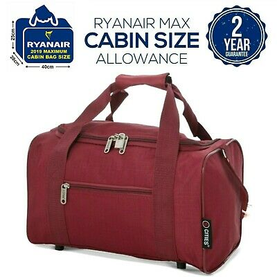 5 Cities New 2019 Ryanair 40 x 20 x 25 Max Size Cabin Carry on Holdall Bag Case
