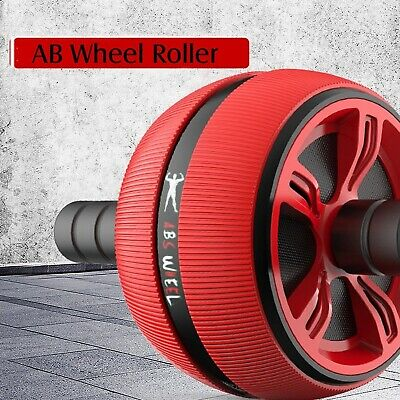 AB WHEEL ROLLER Home Gym Abdominal Core Exercise Fitness Abs Workout Equipment
