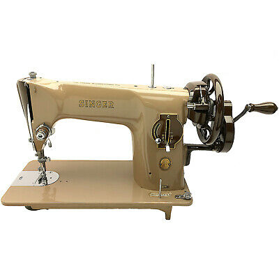 SINGER 201 201k Hand Crank Sewing Machine Serviced & Restored by 3FTERS