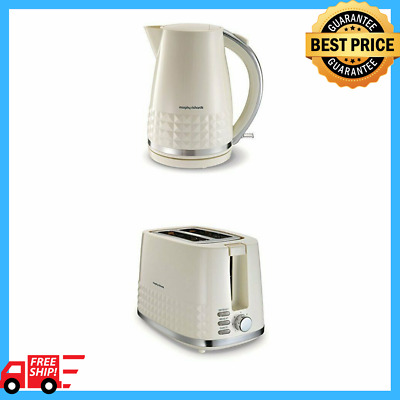 Luxury Cream 2 Slice Toaster and Jug Kettle Kitchen Set for Hot Drinks and Toast