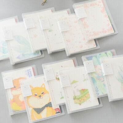 Cute Cartoon Cat Notebook Plastic Cover Paperback Book Diary Notepad Sketchbook