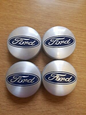X4 Caps Ford Small Centre Caps Alloys 54mm Blue Or Silver