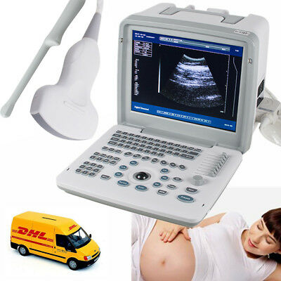 Digital Ultrasound Scanner System/Machine+Convex + Transvaginal Probes Medical