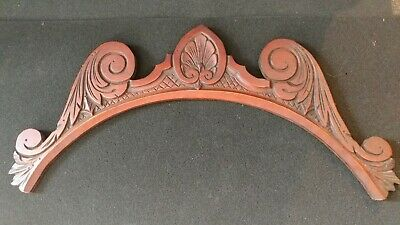 Architectural Salvage Wood Ornate Crown Panel Antique