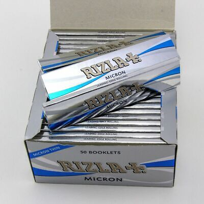 Rizla Micron King Size Silver Slim Thin Smoking Rolling Paper Booklets Sheets