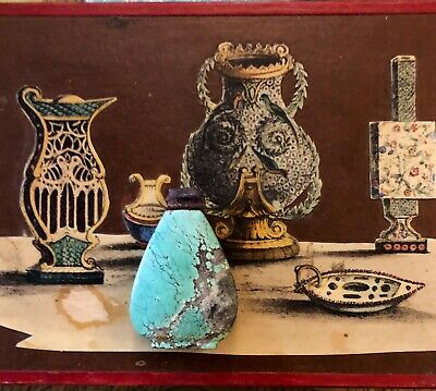 Antique Chinese Turquoise And Amethyst Snuff Bottle