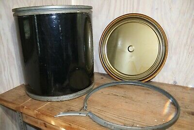 Vintage Cardboard Shipping Storage Barrel Drum Container