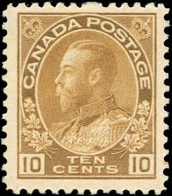 Mint Canada 10c Scott #118 King George V Admiral Issue Stamp Hinged