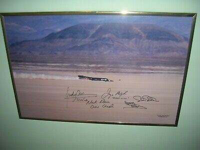 Land Speed Photo - Thrust Ssc At Black Rock 1997 - Famous Chris Rossi Photo