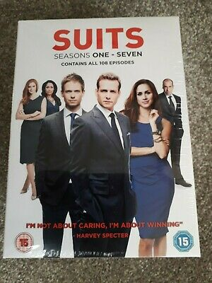 Suits - Seasons 1-7 DVD BRAND NEW SEALED..... 28 DISCS..... ALL 108 EPISODES