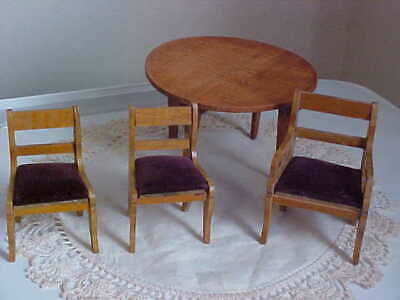 Vintage/Antique Schneegas? Wood Table & 3 Chairs - REDUCED!
