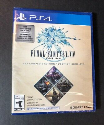 Final Fantasy XIV Online The Complete Edition [ 4 Games in 1 Pack ] (PS4) NEW