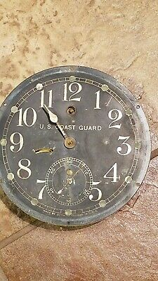WWII era U. S. Coast Guard Clock w/Seth Thomas movement + 6 in Black dial