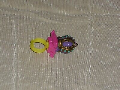 Vintage 1994 Bluebird Polly Pocket Crown Surprise Ring Complete