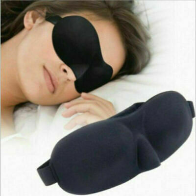 3D Travel Sleep Eye Mask Eyepatch Memory Foam Padded Shade Sleeping Blindfold
