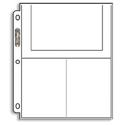 3-Pocket Page Ultra-Pro 4X6 Inch 25 Pages Photo or Postcard High Quality Durable
