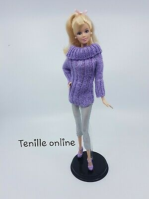 New Barbie doll clothes fashion outfit knit sweater pants complete shoes