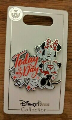 Disney Parks Pin Today Is My Day Minnie Mouse June 2019 Heart Hands New On Card