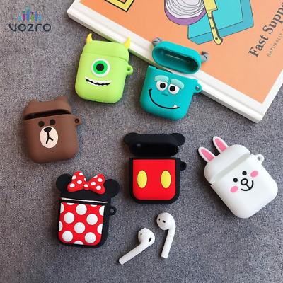 Cartoon Wireless Bluetooth Earphone Headphones Protective Case For Apple AirPods