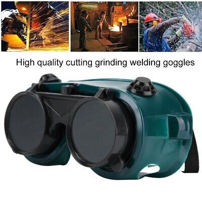 Safety Welder Welding Goggles Dual Lens Flip Labor Eyes Protective PC Glasses