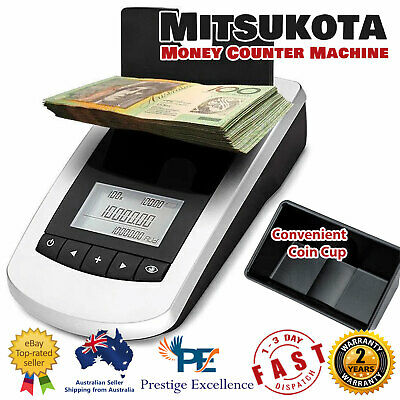 Portable Digital Note Coin Sorter Machine Australian Cash Fast Money Counter NEW
