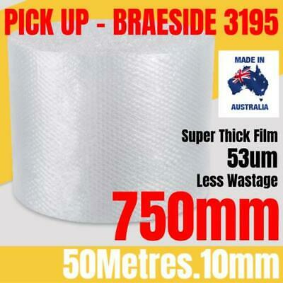 BUBBLE CUSHIONING WRAP 750mm x 50M | Clear 10mm Bubble Roll Bubble Wrap Roll