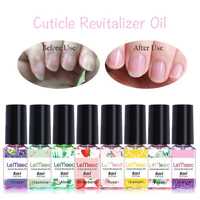 LEMOOC 8ml Nail Cuticle Oil Fruit Flavor Soften Dead Skin Care Finger Nail Art