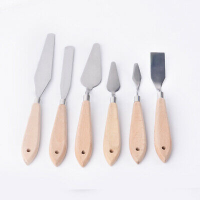 Wood Stainless Steel Spatula Kit Palette for oil painting Knife Fine Tool