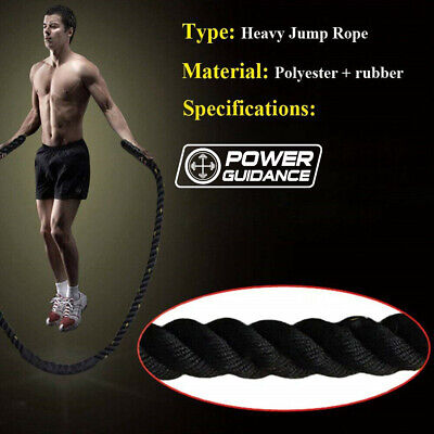 25mm Fitness Heavy Jump Rope Crossfit Weighted Battle Skipping Ropes