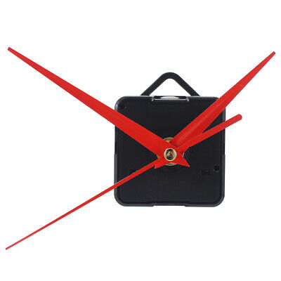 Red Mute Hands Quartz Clock Movement Mechanism Module Kit DIY Repair Tool