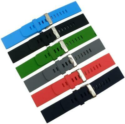 Waterproof Silicone Smart Sports Watch Strap Watch Band Strap Rubber 18 20 22mm