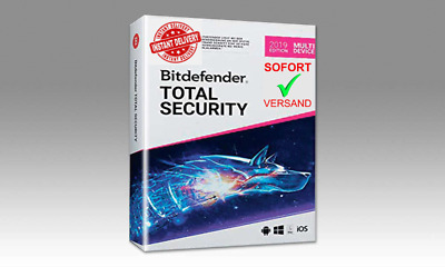 Bitdefender Total Security 2019 5 Geräte, 6 Mon. Sofortversand *Instant Delivery