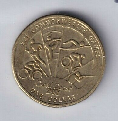 2018 Australian $1 One Dollar Coin - Gold Coast XXI Commonwealth Games TYPE 2 #1