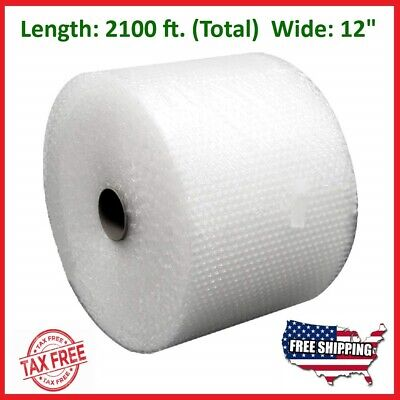 "3/16"" x 2100' x 12"" Small Bubble Cushioning Wrap Padding Roll 2100 FT Perforated"