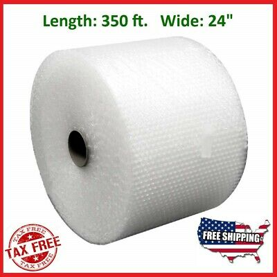 "Bubble Cushioning Wrap 3/16"" 350 ft. x 24"" Small Padding Perforated Shipping Mov"