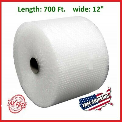 "3/16"" x 700' x 12"" Small Bubble Cushioning Wrap Padding Roll 700 FT Perforated"