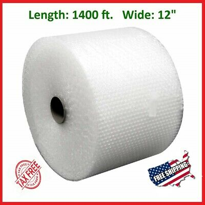 "3/16"" x 1400' x 12"" Small Bubble Cushioning Wrap Padding Roll 1400 FT Perforated"