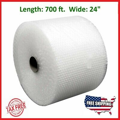 "Bubble Cushioning Wrap 3/16"" 700 ft x 24"" Small Padding Perforated Shipping Roll"