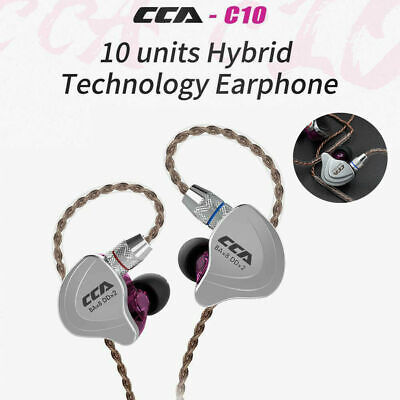 CCA C10 4BA+1DD Hybrid In-Ear Headphone Earphone HIFI Bass Earbud Headset New