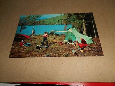 (S) Vintage -  Post Card-Cherry Grove Camp-Bowmanville-Ont.-Chow At Time At Camp